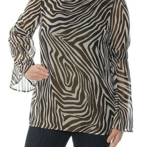 Michael Michael Kors Metallic Bell-Sleeve Tunic To